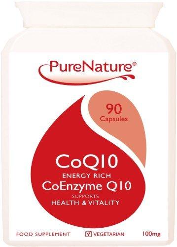Коэнзим CoQ10 быстрое поглощение 100мг / 90 легко одним-Day Вегетарианская Капсулы богатых энергией для поддержки благополучия клеток сердца, печени и тела