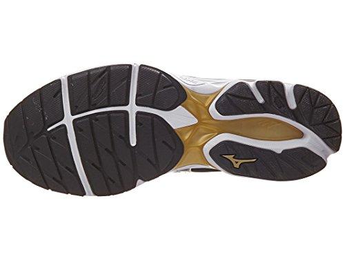 Mizuno Mens Wave Rider 20 Scarpa Da Corsa Bianco / Nero