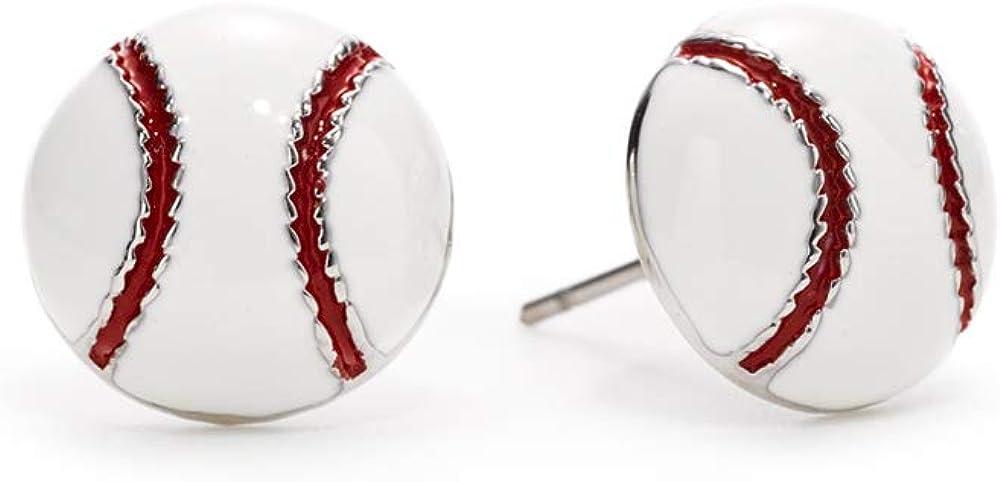GIMMEDAT Baseball Enamel Post Earrings Jewelry Mom Woman Fan Gift