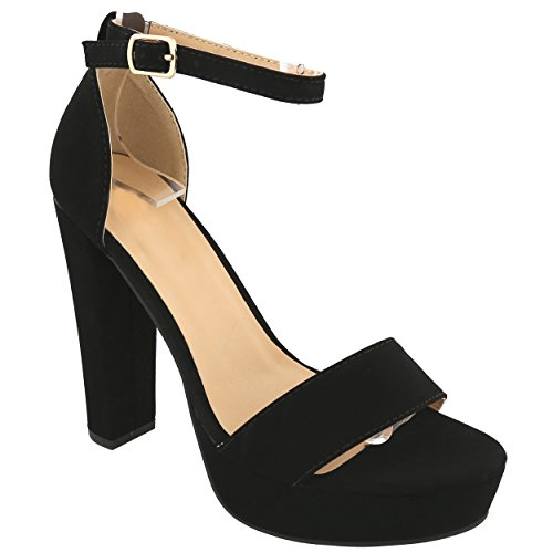 SNJ Women's Peep Toe Platform Party Sandals for Wedding Working Pump shoes