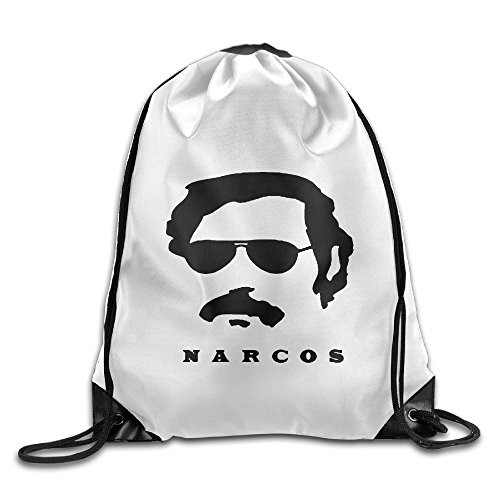 [Unisex Who Hunt Pablo Escobar Narcos Season 2 Sports Drawstring Backpack Bag] (Pablo Escobar Narcos Costume)