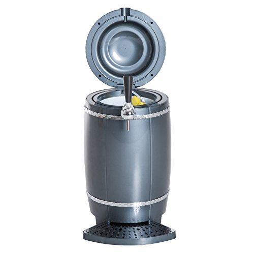 Mini dispensador de enfriador de cerveza portátil de 10 litros, para coche, color negro: Amazon.es: Hogar