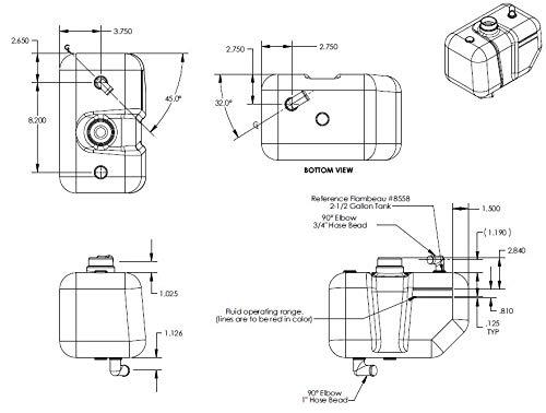 17618 Swisher 2.5 Gallon Hydraulic Tank