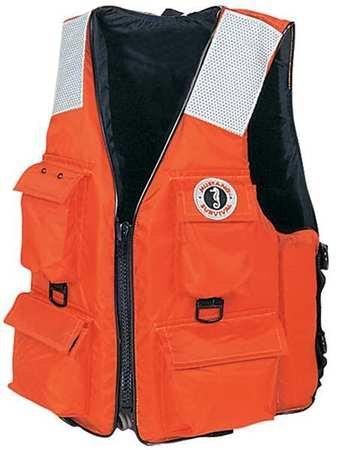 4-Pocket Flotation Vest, Size L, Orange