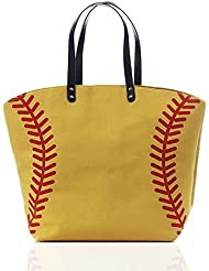Canvas Softball Tote Bag