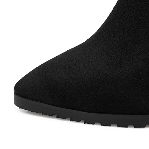 AdeeSu Womens Casual Slip-Resistant Wedges Urethane Boots SXC02208 Black v9AYghda