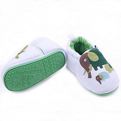 Lidiano Infant/Toddler Baby Non Slip Rubber Soft Sole Cartoon Walking Slip on Shoes for Home/Outdoors (5 M US Toddler, Elephant) - Image 1