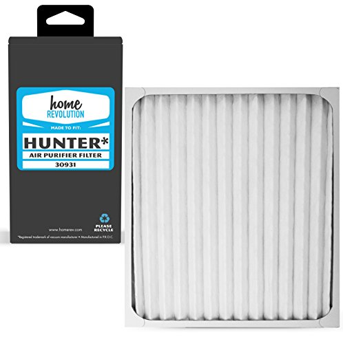Home Revolution Replacement HEPA Filter, Fits Hunter 30201, 30212, 30213, 30240, 30241, 30251, 30378, 30379, 30380, 30381, 30382, 30383, 30526 and 30527 Air Purifiers and Part 30931 by Home Revolution