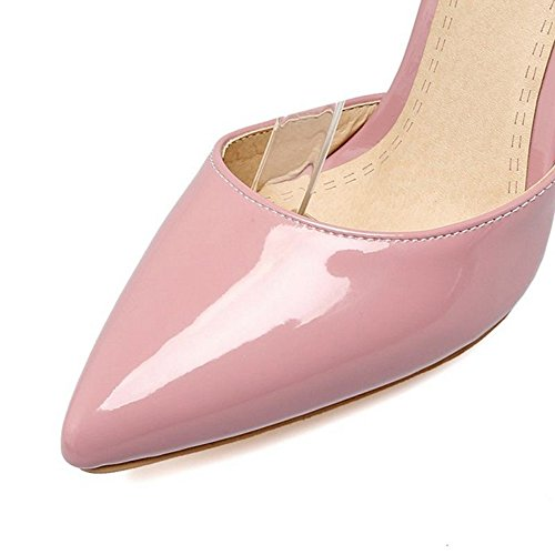 SJJH Thin Heel Sandals for Formal Dress Stiletto Large Size to 11 UK for Office Lady Pink WKbOOBDi