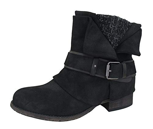 Ankle Black Lauren Boots Jellypop Distressed Womens Uq1Enzw