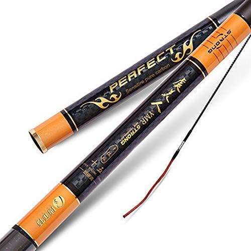 Jlxl Telescópico Caña De Pescar 3.6-7.2 Metros Ultra Ligero Súper Duro 28 De Altura Carbono 5H Competitivo Pozo Negro...