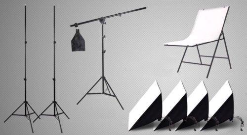 Foto Studio Kit De Iluminación Continua Softbox tienda 4X135W Mesa de disparo de luz del día