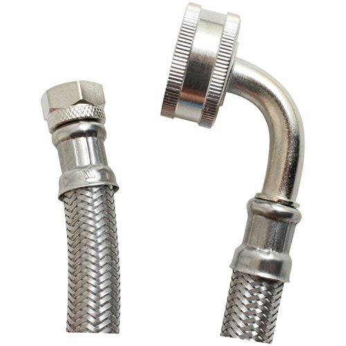 Certified Appliance Accessories Braided Stainless Steel Dishwasher Connector with Elbow, 5ft