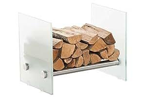 Chimenea madera soporte Gavin 35x 50x 40leche cristal