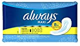 Always Maxi No Wings Regular Size 1, 10 Pads - 12 Packs Box