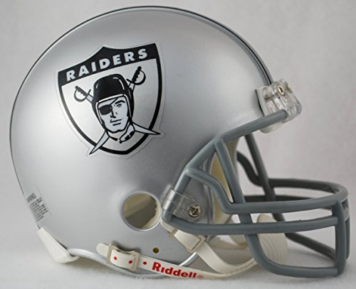 Football Throwback Helmet Nfl (Oakland Raiders 1963 Throwback Replica Mini Helmet w/ Z2B Face Mask)