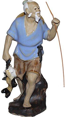 Chinese Fisherman Statue - Figurine Chinese Fisherman