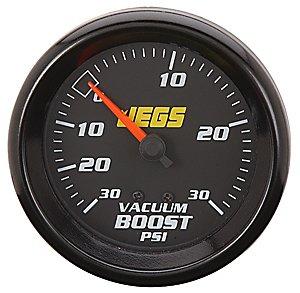 JEGS 41204 2-5/8'' Mechanical Vacuum/Boost Gauge