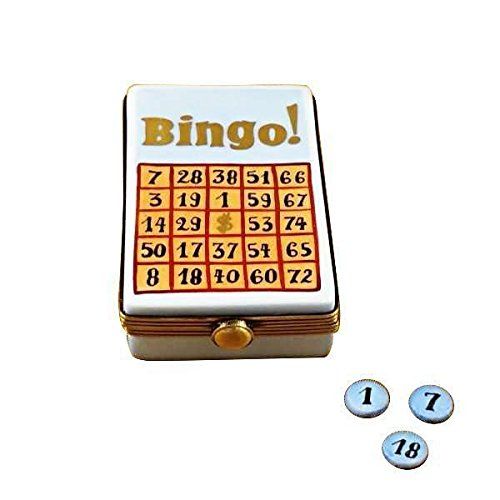 BINGO GAME - LIMOGES BOX AUTHENTIC PORCELAIN FIGURINE FROM FRANCE by French Limoges Boxes Boutique