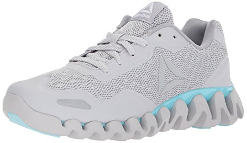 Reebok Womens Zig Pulse-SE Sneaker Lgh Solid Grey/Cool Shadow/Blue Lagoon/White