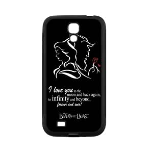Fayruz- Personalized Beauty and the Beast Princess Belle Cartoon Protective Cover Hard Textured Rubber Phone Case for Samsung Galaxy S4 i9500 G-S4H1138