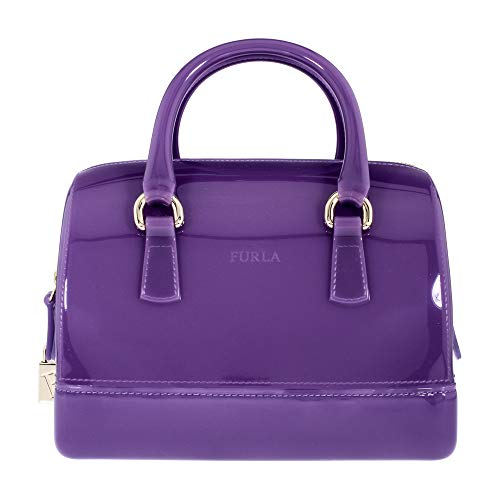 Furla Women's Candy Cookie Small Satchel, Lavanda, Purple, One Size