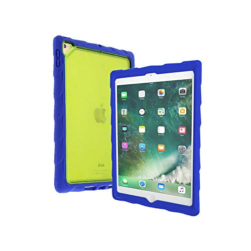 Gumdrop DropTech Clear Case Designed for The Apple iPad 9.7 (6th Gen and 5th Gen) Tablet for K-12 Students, Teachers, Kids - Royal Blue/Lime, Rugged, Shock Absorbing, Extreme Drop Protection