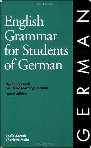 Amazon.com: English Grammar for Students of German (9780934034319 ...