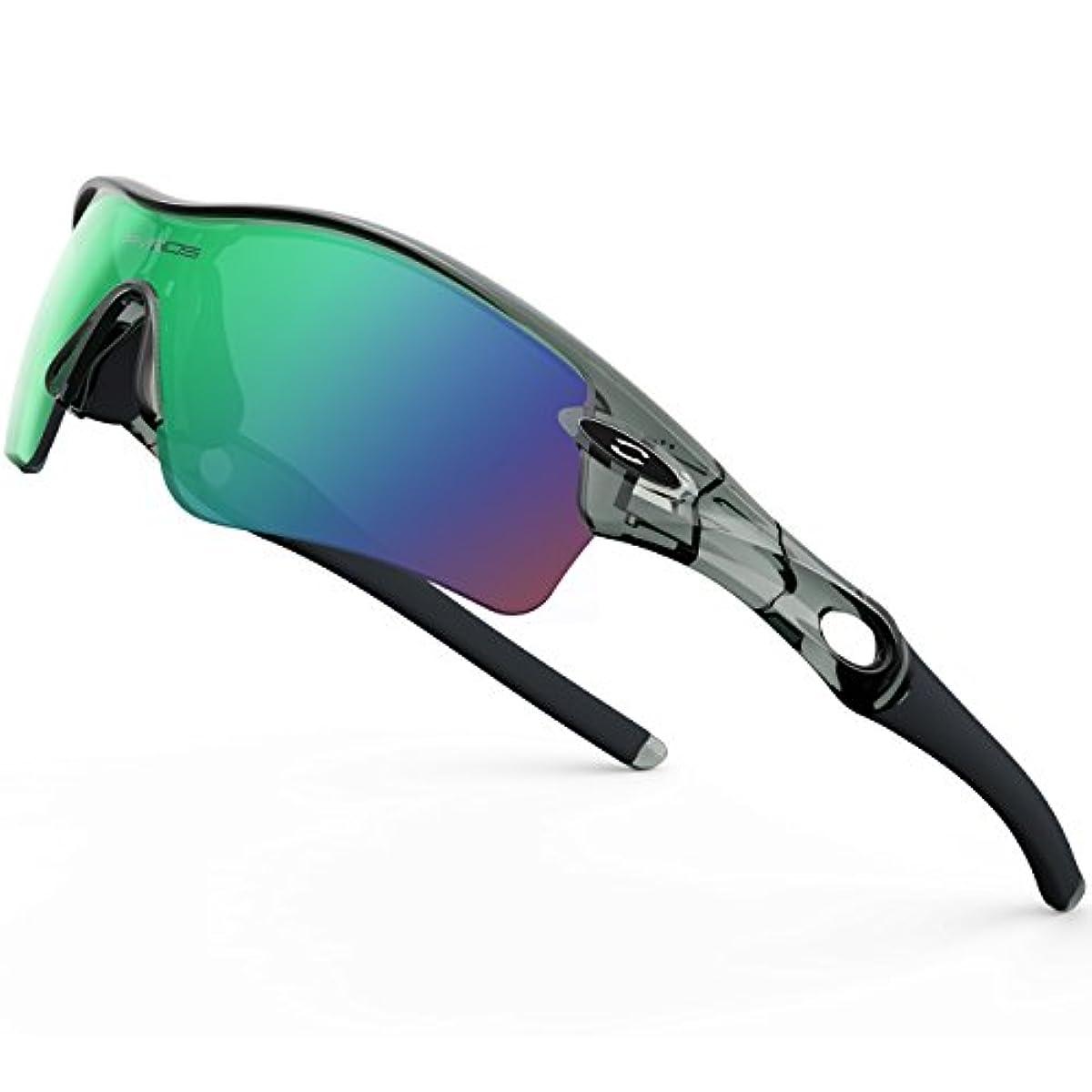 [해외] RIVBOS(re밧즈)RBK0805 스포츠 썬글라스 편향 썬글라스 편광 렌즈1 매교환 렌즈5매 로드 오토바이 자전거UV400 자외선 컷 맨즈 레이디스 유니 썬글라스
