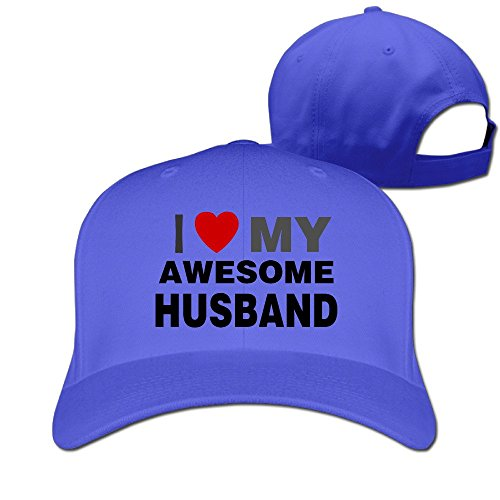 I Love My Awesome Husband Couple Snapback Fitted Baseball Sports Caps Hats