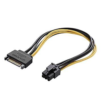 Desconocido 20 cm SATA 15 Pin a 6 Pin Tarjeta de Video ...