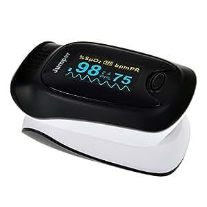 Elera JPD-500D CE&FDA Approved Finger Pulse Oximeter PI/PR /SpO2 Monitor Blood Oxygen Monitor with Pouch
