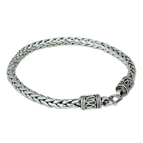 NOVICA Men's .925 Sterling Silver Handmade Chain Bracelet, 8.75'' 'Strength' by NOVICA