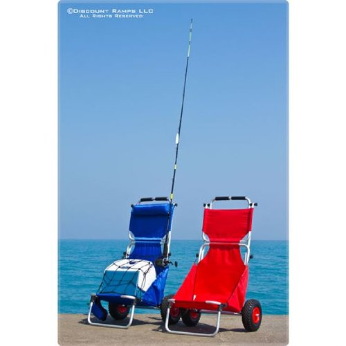 Rage Powersports BFC-RED Red Folding Beach Fishing Chair/Cart by Rage Powersports (Image #5)