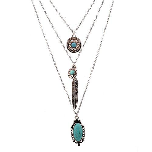 Vintage Layered Turquoise Necklace 01003373 product image