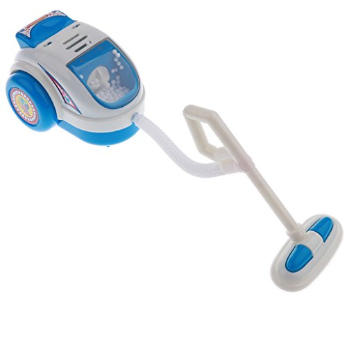 BAOBLADE Kids Children Mini Home Appliance Toys with Light and Sound – Blue Vacuum Cleaner