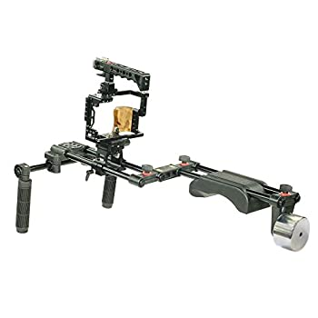 Image of Camera Shoulder Supports FILMCITY Camera Cage Shoulder Rig for Sony a7R II, a7S II & a7 II (FC-A7RS-RIG)