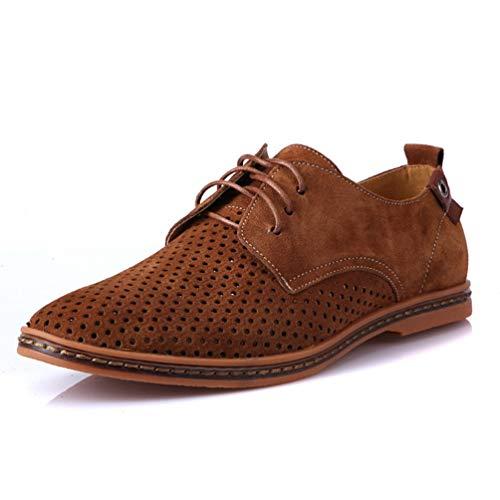Punta Verde Respirable Oxford Hueco Salidas Vestir Los Zapatos Zapatos Hombres Negocios para Formales Hombres Zapatos Charol qwXaXFZH