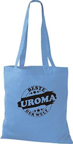 ShirtInStyle Bolso de tela Bolsa de algodón Mejor UROMA der Welt azul claro