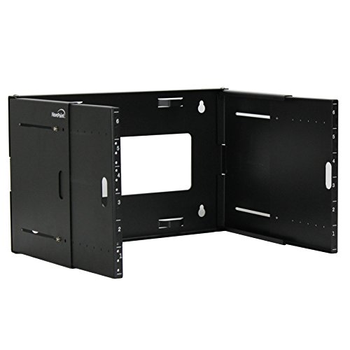 NavePoint 6U Wall Mount Bracket Extendable Network Equipment Rack Threaded Standard 19