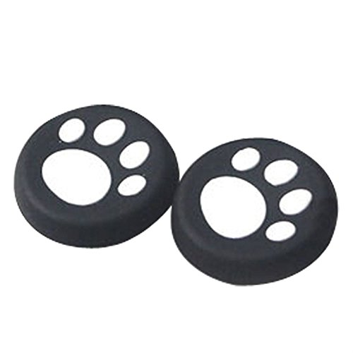 Insaneness for Nintendo Switch Controller 1 Pairs Cat's Paw Silicone Gel Thumb Grips Caps (White)