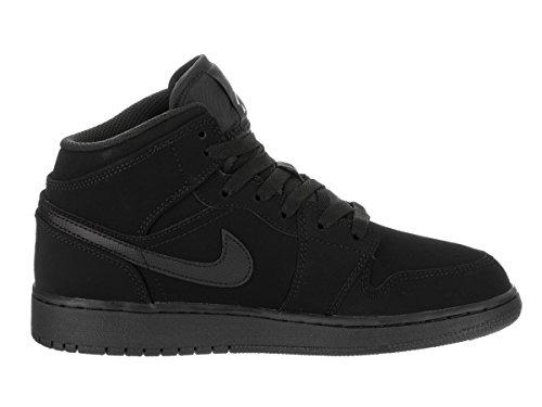 Nike Mid Trainers Leather Air 1 white Black Black Jordan Youth TwrRq4T