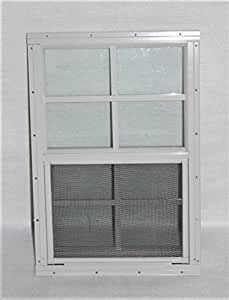 "Shed Windows 14"" X 21"" White Flush Mount, Playhouse Windows, Chicken Coop Windows"