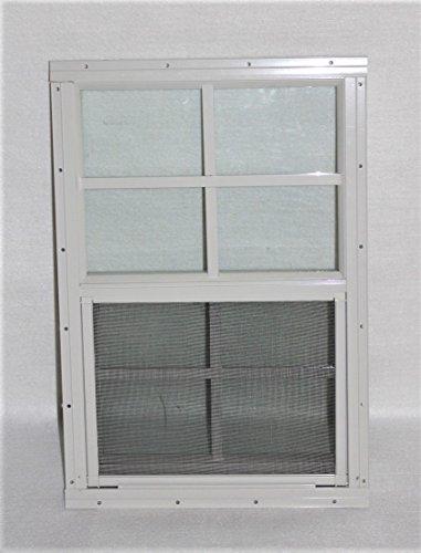"Shed Windows 14"" X 21"" White Flush Mount, Playhouse Windows, Chicken Coop Windows"