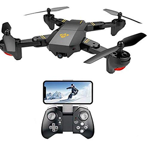 VISUO XS809HW FPV Drone with Camera Live Video, WiFi Quadcopter with 720P HD 2MP 120° Wide-Angle Camera Altitude Hold, Headless Mode, One Key Return, APP Control Toys for Kids & Beginners