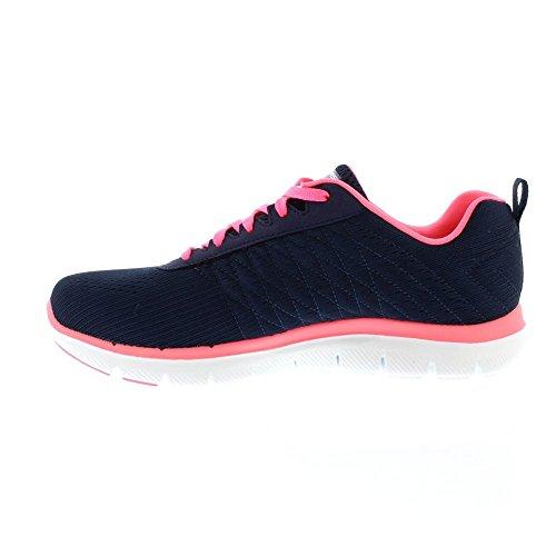 Skechers Sport Women's Flex Appeal 2.0 Fashion Sneaker, Navy/Hot Pink, 10 M US by Skechers Sport Women's (Image #1)