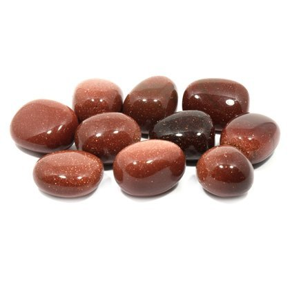 Red Goldstone Tumble Stone (20-25mm) Single Stone