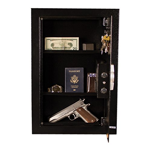 Tracker Safe WS211404-E Steel Wall Safe, Electronic Lock, Black Powder Coat Paint, 0.60 cu. ft. by Tracker Safe (Image #5)