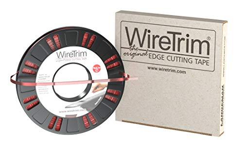 WireTrim, Redline (Standard), Edge Cutting Tape, 1/4-Inch X 90 Feet, 1 Roll, 883662001116