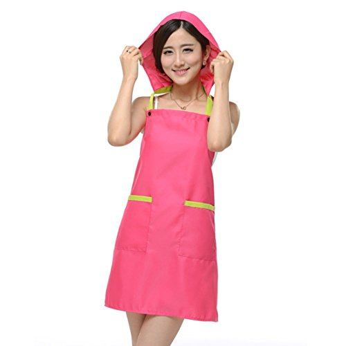 uxcell Kitchen Restaurant Cafe Cooking Dress Pocket Apron Bi
